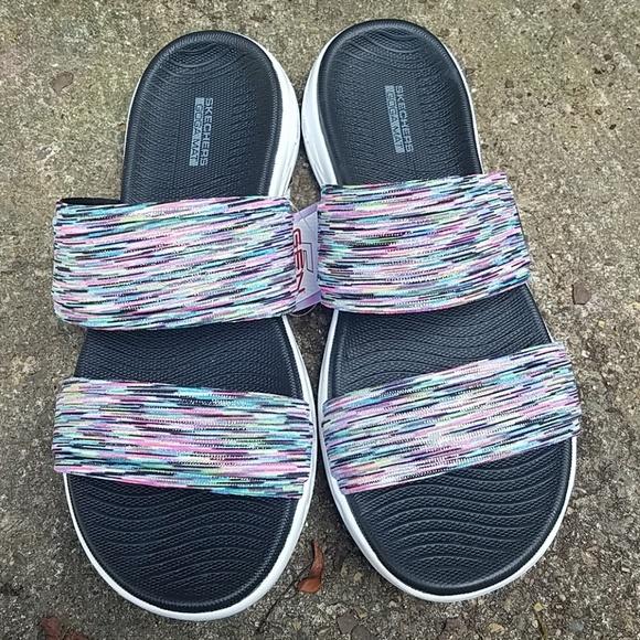 Skechers Goga Mat Slip On Sandals NWT